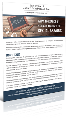What to Expect if you are excused of Sexual Assault